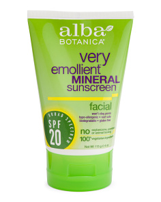 4oz Spf 20 Facial Mineral Sunscreen