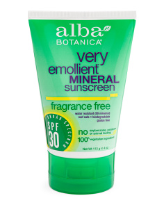 4oz Spf 30 Fragrance Free Mineral Sunscreen