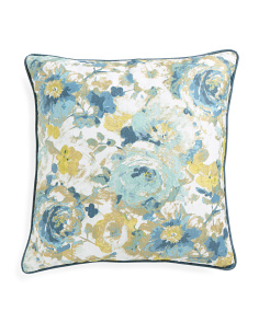 20x20 Metallic Floral Print Pillow