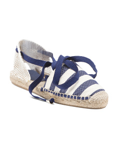 Made In Spain 2pc Nautical Lace Up Sandals