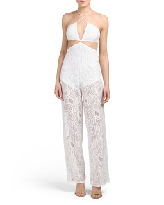 Juniors Illusion Cut Out Jumpsuit