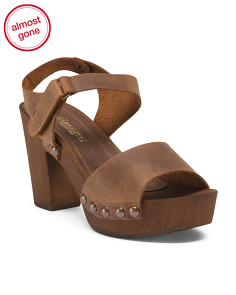 Made In Italy Distressed Leather Sandals