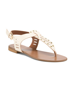Made In Italy Thong Leather Sandals