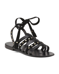 Made In Italy Fisherman Flat Leather Sandals