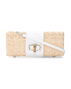 Structured Straw Shoulder Bag