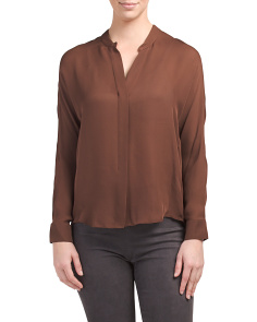 Silk Double Placket Top