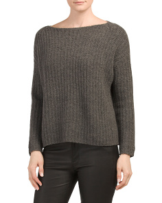 Ladder Stitch Cashmere Blend Sweater