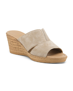 Made In Italy Slide Wedge Sandals