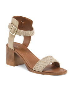 Made In Italy Woven Suede Sandals