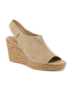 Made In Italy Covered Suede Wedges