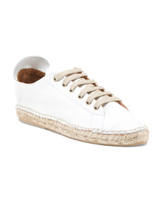 Made In Spain Espadrille Leather Sneakers