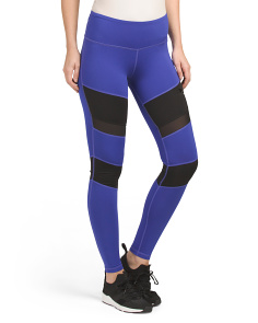 Colorblock Mesh Inset Tights