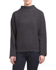 Cropped Merino Wool Blend Sweater