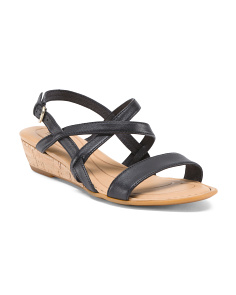 Demi Wedge Leather Sandals