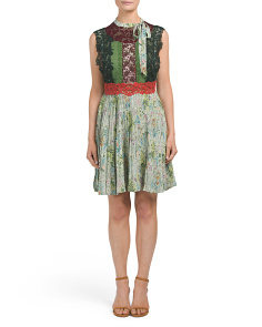 Made In Italy Silk Floral Print Dress