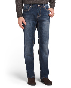 Bootcut Jeans With Flap Pocket