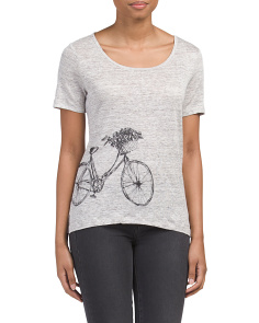 Bicycle Printed Linen Tee