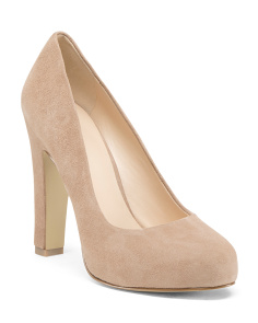 Platform Medium Suede Pumps