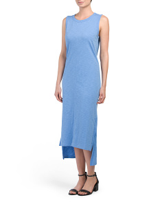 Sleeveless Maxi Dress With Side Slits