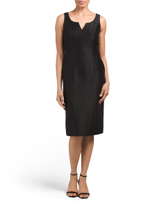 Made In USA Mikado Sheath Dress