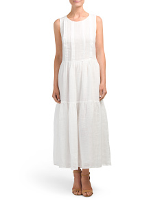 Keyhole Linen Dress