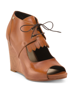 Made In Italy Leather Wedges
