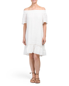 Off The Shoulder Linen Dress