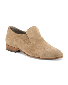 Made In Italy Suede Slip On Shoes