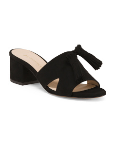 Made In Italy Suede Mule Sandals