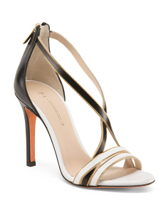 Made In Italy Leather Two-Tone Heels
