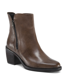 Made In Italy Zip Leather Booties