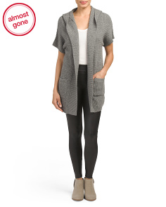 Cashmere Long Hooded Cardigan