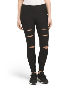 Slit Destructed Leggings