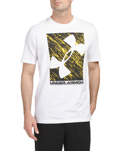 Distortion Crew Neck Athletic Fit T Shirt