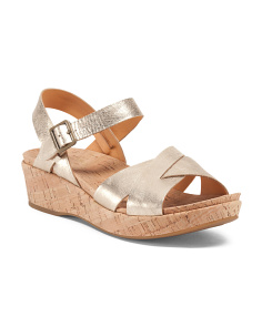 Myrna Criss Cross Strap Leather Sandals