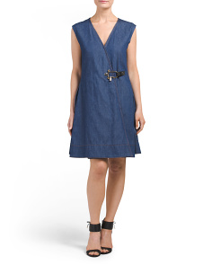 Denim Pleated Dress