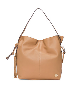 Linny Leather Hobo