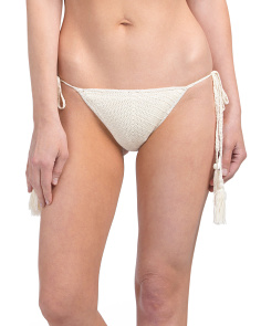 Nightbird Crochet Side Tie Bikini Bottom