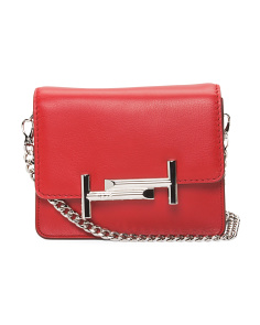 Made In Italy Mini Double T Leather Bag
