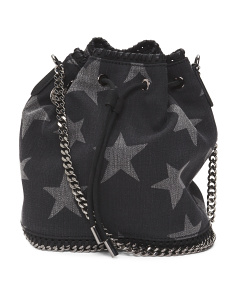 Made In Italy Falabella Bucket Printed Stars