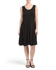 Scoop Neck Seamed Tank Dress