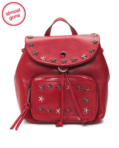 Made In Italy Star Leather Backpack