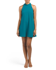 Lily Mock Neck Trapeze Dress
