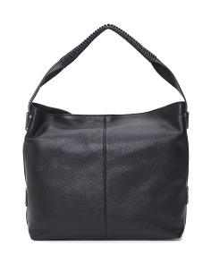 Havana Top Zip Leather Hobo