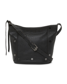Valence Top Zip Leather Crossbody