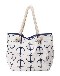 Marina Anchors Beach Tote