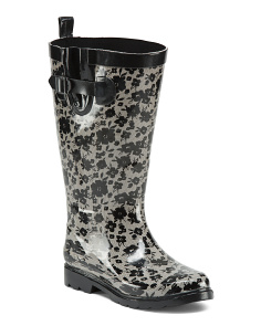 Wide Calf High Shaft Rain Boots