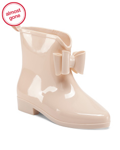 Opaque Bow Rain Booties