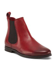 Leather Rubin Flat Chelsea Booties