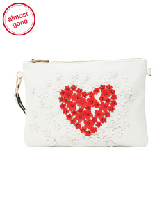 Heart And Stars Motif Clutch